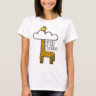 """Head in the Clouds"" Giraffe Ladies T-Shirt"