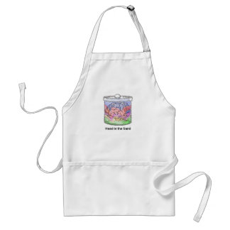 Head in the Sand Adult Apron