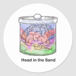 Head in the Sand Classic Round Sticker