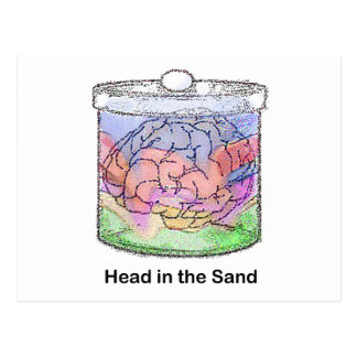 Head in the Sand Postcard