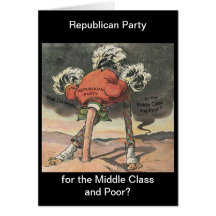Head in the Sand Republican Party Greeting Card