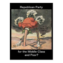 Head in the Sand Republican Party Postcard