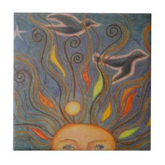 Head in the sky ceramic tile