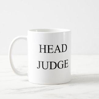 Head judge coffee mug