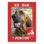 head-JUNIOR, KlassKids Search Team K9 Business Cards