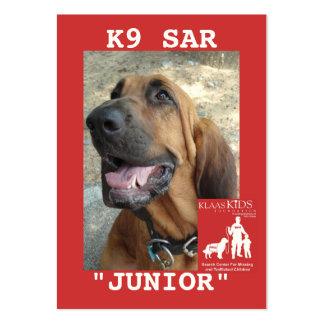 head-JUNIOR, KlassKids Search Team K9 Large Business Cards (Pack Of 100)
