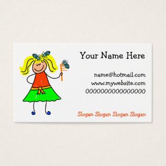 Head Lice Kid Business Card