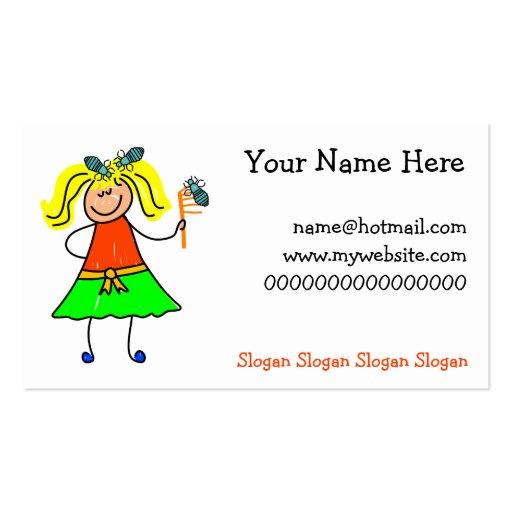 Stick Kids Business Card Templates BizCardStudio - Kid business card template