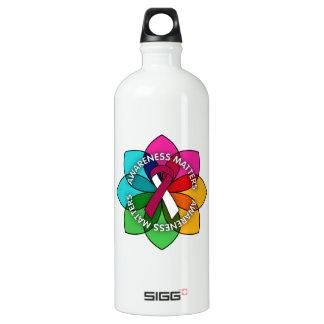 Head Neck Cancer Awareness Matters Petals SIGG Traveler 1.0L Water Bottle