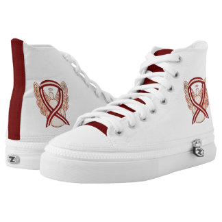 Head & Neck Cancer Awareness Ribbon Angel Shoes