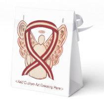 Head/Neck Cancer Awareness Ribbon Party Favor Box