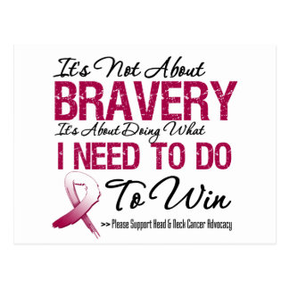 Head Neck Cancer Bravery Post Cards