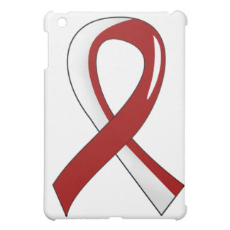 Head Neck Cancer Burgundy White Ribbon 3 iPad Mini Case