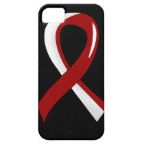 Head Neck Cancer Burgundy White Ribbon 3 iPhone SE/5/5s Case