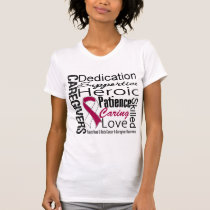 Head Neck Cancer Caregivers Collage T-Shirt