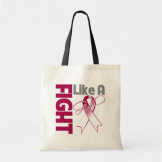Head Neck Cancer Chic Fight Like A Girl Ribbon Budget Tote Bag