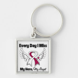 Head Neck Cancer Every Day I Miss My Hero Keychains