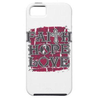 Head Neck Cancer Faith Hope Love iPhone 5 Cases
