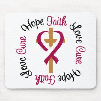 Head Neck Cancer Faith Hope Love Cross Mouse Pad