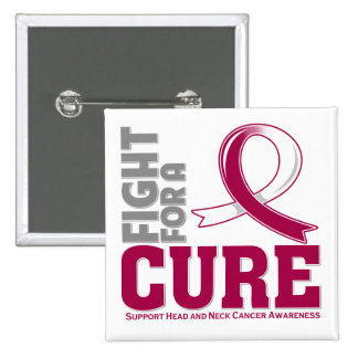 Head Neck Cancer Fight For A Cure Pinback Button