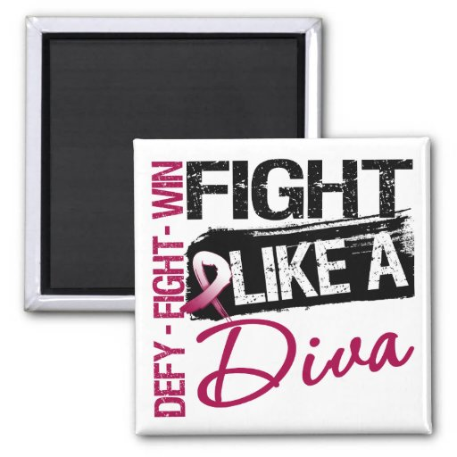 Head Neck Cancer - Fight Like a Diva Magnets