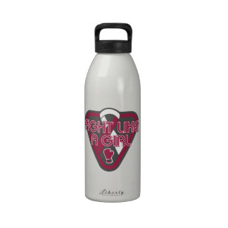 Head Neck Cancer Fight Like A Girl Glove Water Bottles
