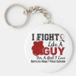 Head Neck Cancer Fight Like A Guy 15 Keychain