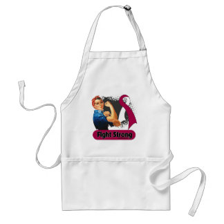 Head Neck Cancer Fight Strong Rosie Riveter Apron
