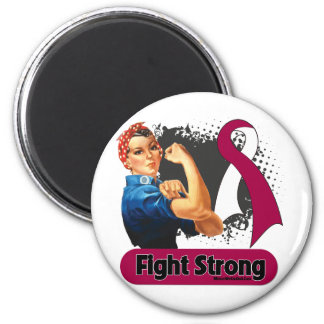 Head Neck Cancer Fight Strong Rosie Riveter Magnet