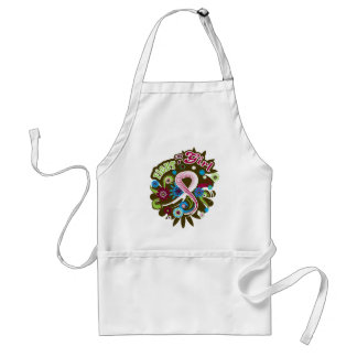 Head Neck Cancer Groovy Fight Like A Girl Adult Apron
