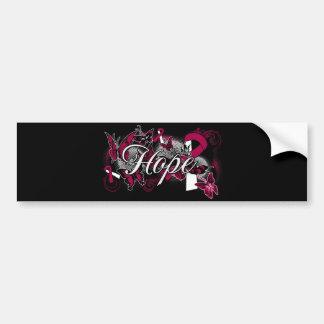 Head Neck Cancer Hope Garden Ribbon Bumper Sticker