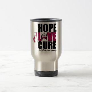 Head & Neck Cancer Hope Love Cure Travel Mug