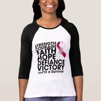 Head Neck Cancer Hope Strength Victory T Shirt