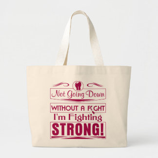 Head Neck Cancer  I Am Fighting Strong Tote Bags