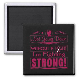 Head Neck Cancer  I Am Fighting Strong Fridge Magnet