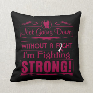 Head Neck Cancer  I Am Fighting Strong Pillow