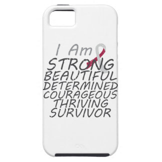 Head Neck Cancer I Am Strong Survivor iPhone 5 Covers