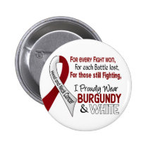 Head & Neck Cancer I Proudly Wear Burgundy White 1 Button