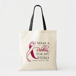 Head Neck Cancer I Wear a Ribbon For My Hero Tote Bag
