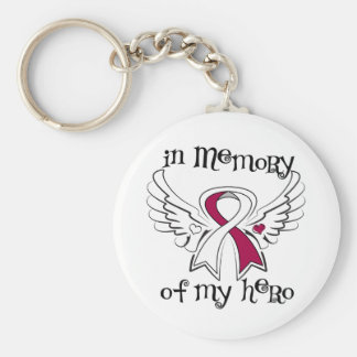 Head Neck Cancer In Memory of My Hero Keychains