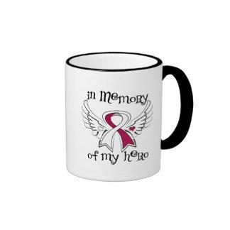 Head Neck Cancer In Memory of My Hero Ringer Coffee Mug