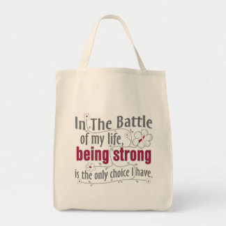 Head Neck Cancer In The Battle Grocery Tote Bag