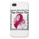 Head Neck Cancer Inspirations Spiral Ribbon iPhone 4 Covers