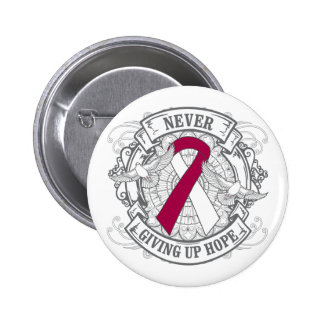 Head Neck Cancer Never Giving Up Hope 2 Inch Round Button