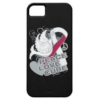 Head Neck Cancer Peace Love Cure iPhone 5 Covers