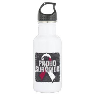 Head Neck Cancer Proud Survivor 18oz Water Bottle