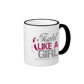 Head Neck Cancer Ribbon - Fight Like a Girl Coffee Mug