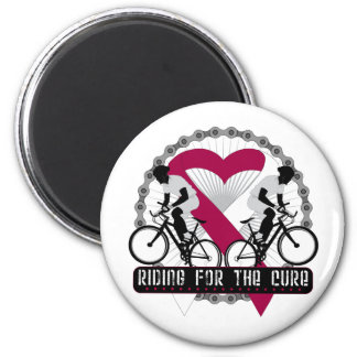 Head Neck Cancer Riding For The Cure 2 Inch Round Magnet