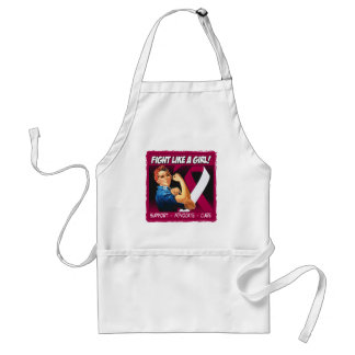 Head Neck Cancer Rosie Riveter - Fight Like a Girl Adult Apron