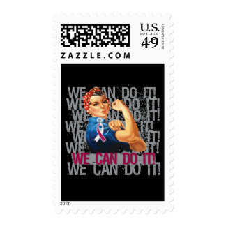 Head Neck Cancer Rosie WE CAN DO IT Postage Stamp